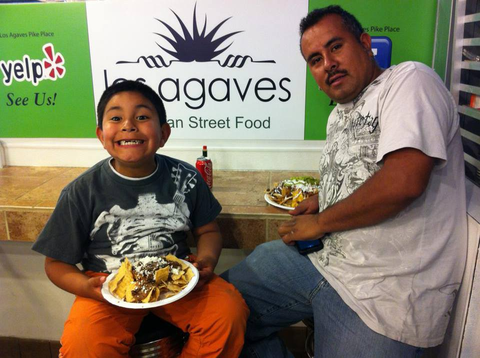 Los Agaves Mexican Street Food is a family-friendly stop in Pike Place Market. Photo source.