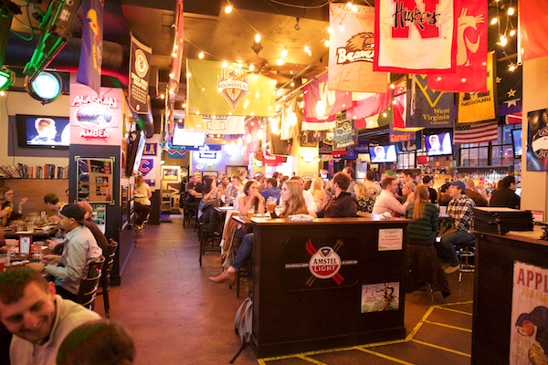 Fans enjoy a game and grub at Buckley's in Belltown. Photo source.