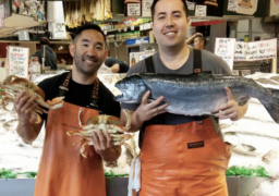 Taho Kakutani and Ryan Yokoyama of Pike Place Fish Market